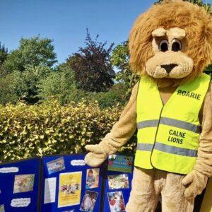 Roarie, the Calne Lions mascot